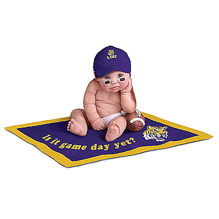 Louisiana State University Tigers #1 Fan Commemorative Baby Doll Collection