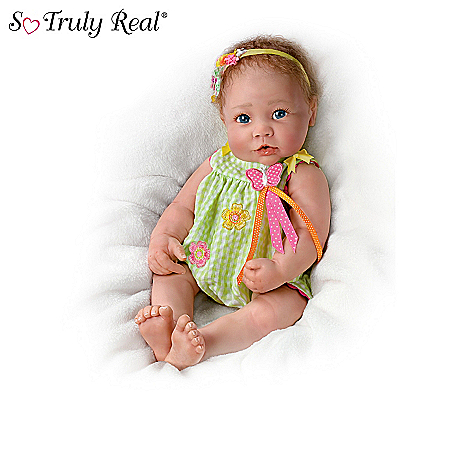 Touch-Activated Lifelike Baby Doll Collection: When I Kiss You, Little One