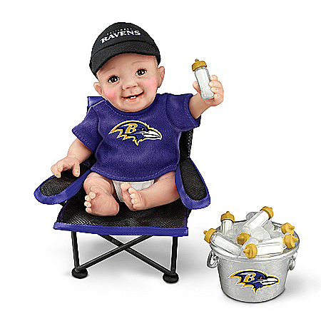 Dolls: Baltimore Ravens Tailgatin' Tots Baby Doll Collection
