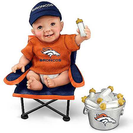 Cheryl Hill NFL-Licensed Denver Bronco Tailgatin' Tots Baby Doll Collection