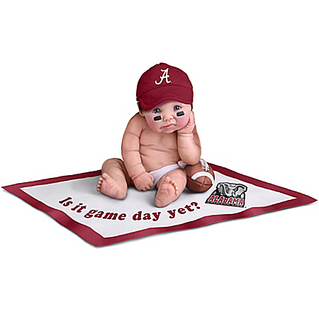 Alabama Crimson Tide #1 Fan Lifelike Baby Doll Collection