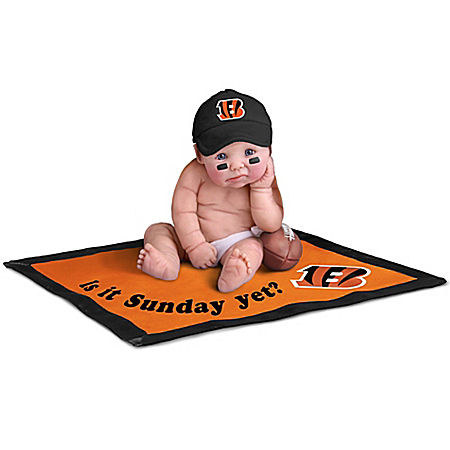 Cincinnati Bengals #1 Fan Lifelike Baby Doll Collection