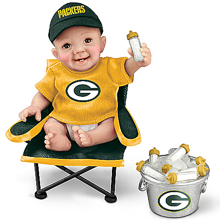 Green Bay Packers Tailgatin' Tots Lifelike Baby Doll Collection
