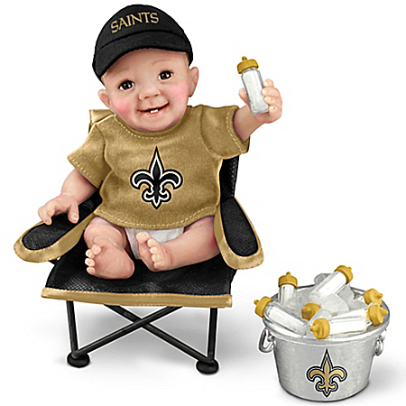New Orleans Saints Tailgatin' Tots Lifelike Baby Doll Collection