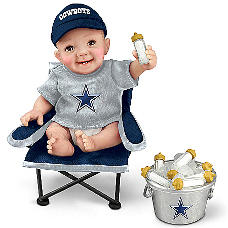 Dallas Cowboys Tailgatin' Tots Lifelike Baby Doll Collection