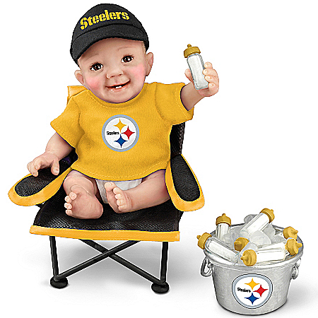 Pittsburgh Steelers Tailgatin' Tots Lifelike Baby Doll Collection