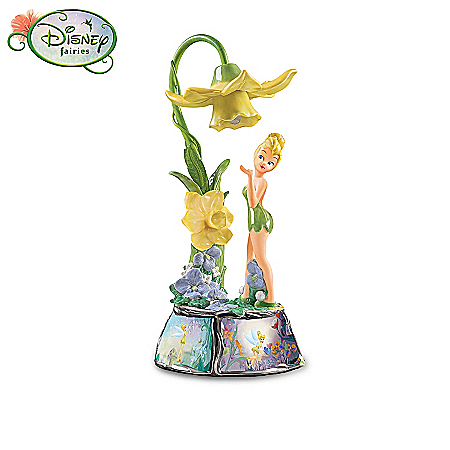 Disney Tinkerbell Disney Tinker Bell Collectible Floral Light Musical Table Lamp Collection