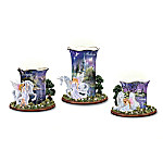 Twilight Enchantment Unicorn And Fairy Art Porcelain Votive Candleholder Collection