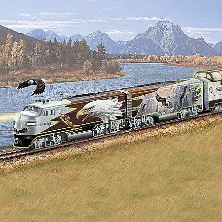 Wings Of Majesty Express Bald Eagle Art Train Collection