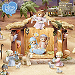Precious Moments Oh Holy Night Christmas Nativity Scene Village Collection