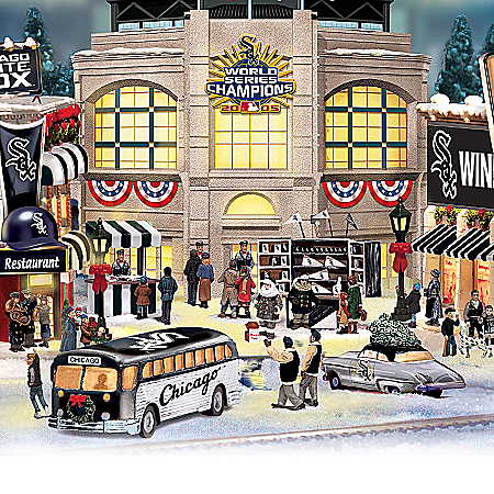 Christmas Village Collectibles Chicago White Sox Collectible Christmas Village Collection