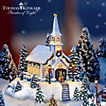 Thomas Kinkade Happy Holidays Lighted Miniature Village Collection