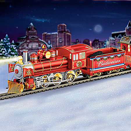 Budweiser Holiday Express Illuminated Electric Train