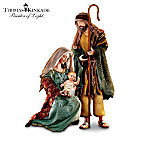 Thomas Kinkade Holy Nativity Sculpture Collection: Religious Christmas Nativity Set