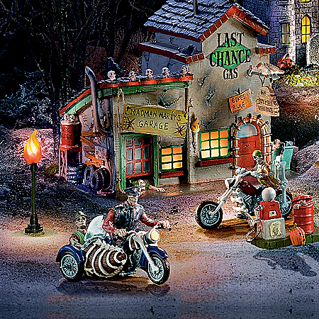 Christmas Village Collectibles The Death Valley Rally Gothic Village Collection