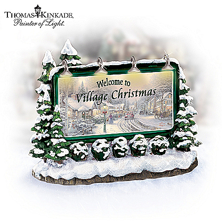 Thomas Kinkade Village Christmas Accessories Collection