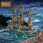 Disney Pirates Of The Caribbean Flying Dutchman Ghost Ship And Figurine Collection