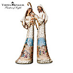 Thomas Kinkade Hand-Carved Wood-Look Nativity Figurine Collection