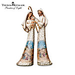 Thomas Kinkade Hand-Carved Wood-Look Nativity Figurine Collection - Elegant Blessings