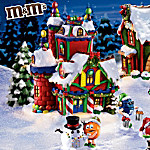 M&MS Christmas Village Collection Featuring M&MS Character Figurines