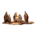 Genuine Bethlehem Olive Wood Nativity Figurine Collection