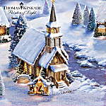 Thomas Kinkade The Lords Perfect Christmas Morning Musical Village Collection