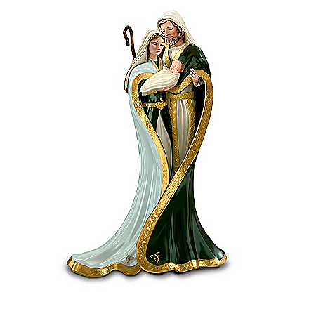 Christmas Nativity Sets Irish Nativity Figurine Collection: Emerald Elegance