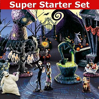 ... Nightmare Before Christmas Village Collection With Super Starter Set