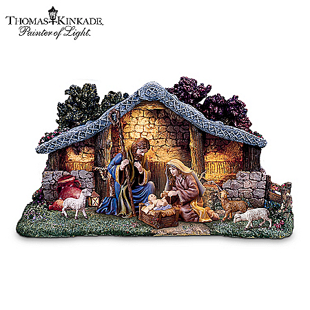 Thomas Kinkade Star Of Hope Nativity Collection With Super Starter Set
