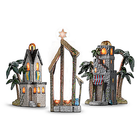 Christmas Nativity Sets The Elegant Holy Night Of Bethlehem Lighted Nativity Accessory Collection