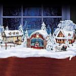 White Christmas Village Collection With Free Figurines In Select Shipments