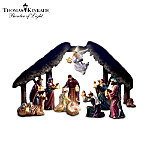 Thomas Kinkade Light From Within Nativity Figurine Collection