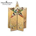 The Star Of Faith Illuminated Nativity Collection By Artist Thomas Kinkade