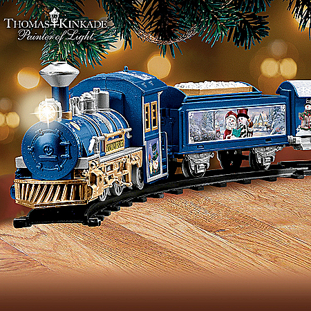 Thomas Kinkade Snowtown Express Battery-Powered Train Collection