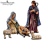 Thomas Kinkade Indoor/Outdoor Nativity Set: Magnificent Holy Night Collection