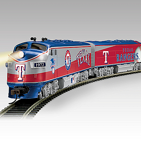 Texas Rangers Express Electric Train Collection