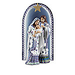 """The Folk Art Polish Stoneware Pottery-Inspired Nativity Collection: """"Silent Night"""""""