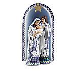 The Folk Art Polish Stoneware Pottery-Inspired Nativity Collection - Silent Night