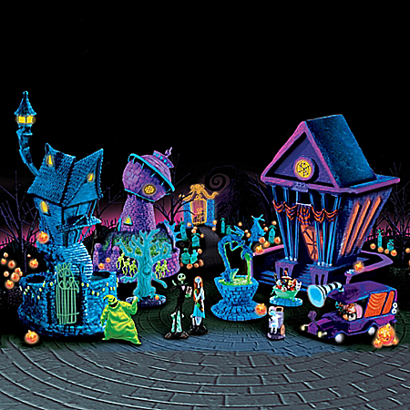 Tim Burton's Nightmare Before Christmas Black Light Village Collection