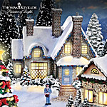 Thomas Kinkade Christmas Village Collection Cobblestone Corners