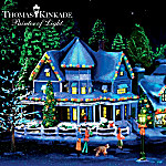 Thomas Kinkade Black Light Christmas Village Collection