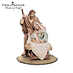 Thomas Kinkade Footprints In The Sand Nativity Collection