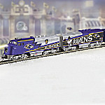 Collectible NFL Football Baltimore Ravens Express Electric Train Collection