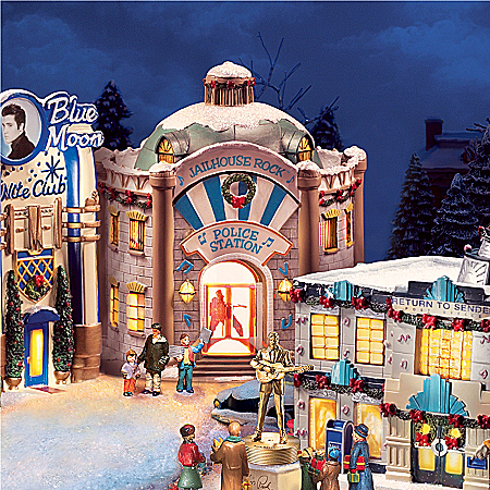 Christmas Village Collectibles Elvis Rock And Roll Christmas Village Collection