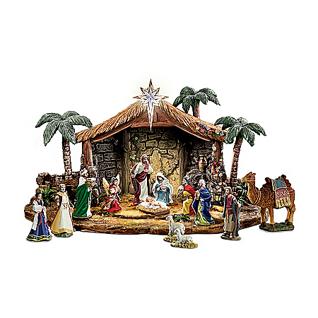 Nativities: Thomas Kinkade Magnificent Blessings Nativity Collection