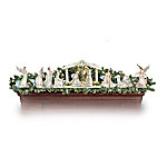 Christmas Nativity Sets Silver Blessings Nativity Garland Collection