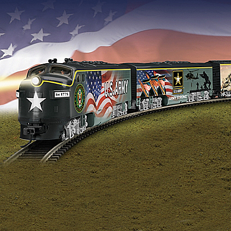 U.S. Army Express Train Collection With Tracks And Power-Pack