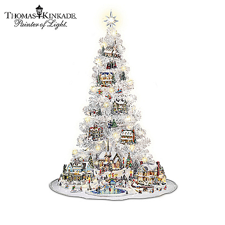 The Illuminated Thomas Kinkade Village Christmas Tree Collection