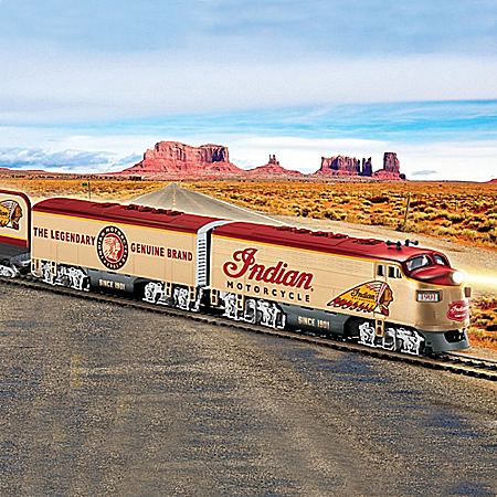 Indian Motorcycle Express Collectible HO-Scale Electric Train Collection