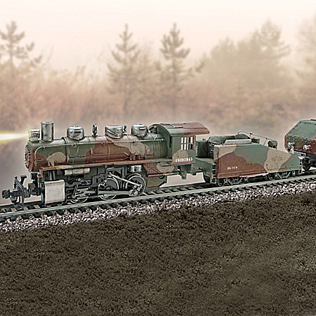 WWII Armored Express Train Collection With Track Set